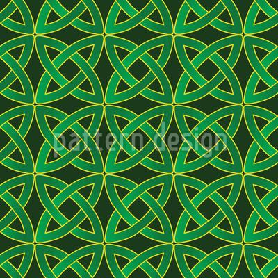Keltische Kreise Nahtloses Vektormuster