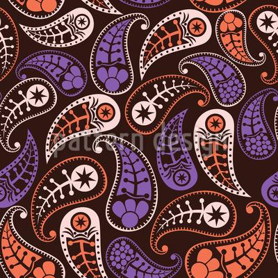Lovely Autumn Paisleys Design Pattern