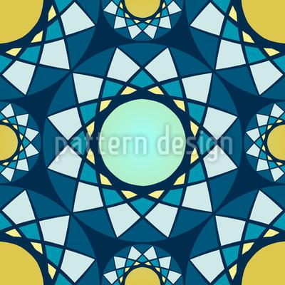 Das Mosaik Der Wintersonne Vektor Design