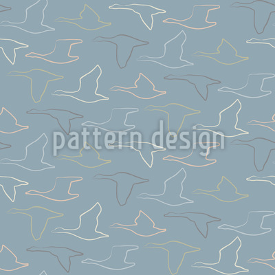 The Flight Of The Wild Geese Repeating Pattern