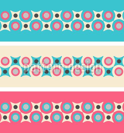 Retro Grenzen Muster Design