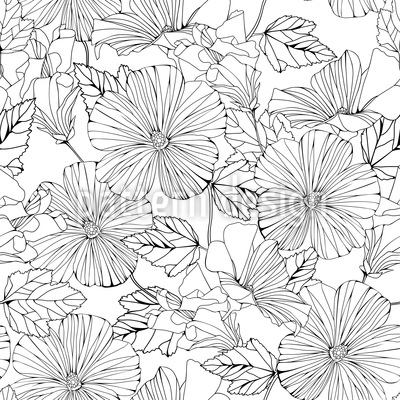 Beautiful Hibiscus Design Pattern