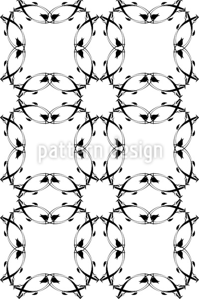 Gotik Floral Designmuster