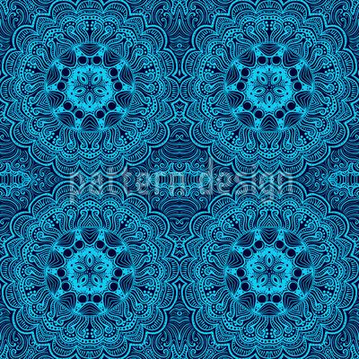 Восточная вышивка Бесшовный дизайн векторных узоров