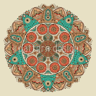 The Mandala Of Genghis Khan Seamless Vector Pattern Design