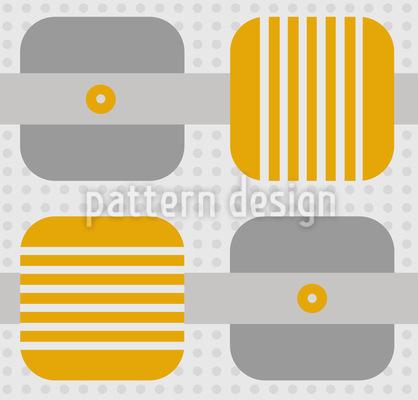 Quadrate Streifen Punkte Muster Design