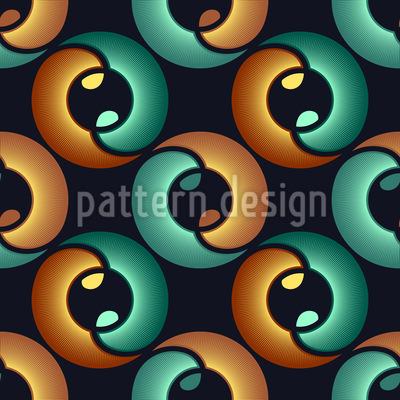 Im Auge Des Yin Und Yang Designmuster