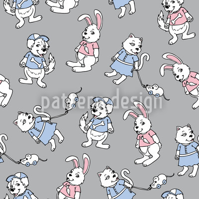 My Little Pet Shop Seamless Pattern