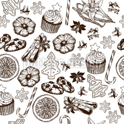 Delicious Christmas Time Seamless Pattern