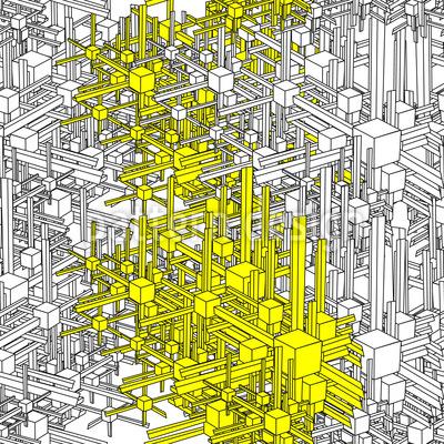 Geometrische Metropolen Nahtloses Vektormuster