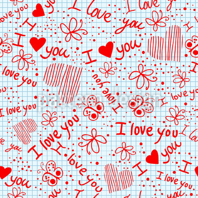 Love Confessions In School Pattern Design