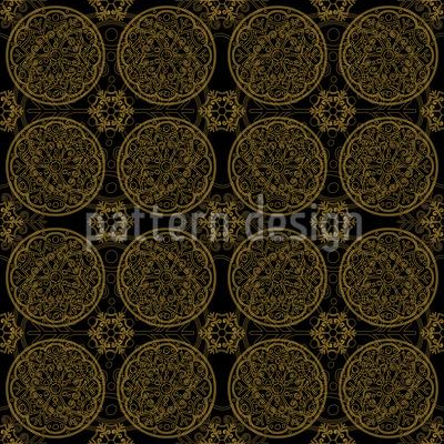 Star Fantasy In Gold Design Pattern