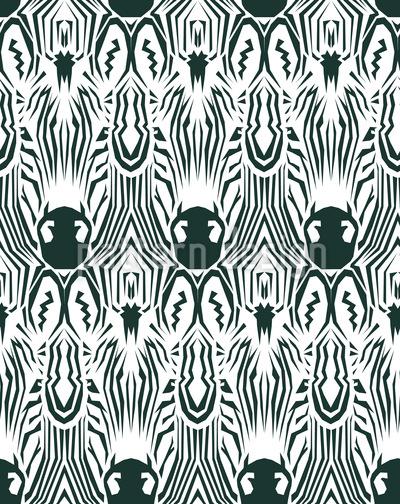 Zebra Kaleidoskop Nahtloses Muster