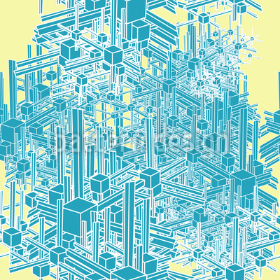 Arctic Metropolis On Vanilla Seamless Vector Pattern Design