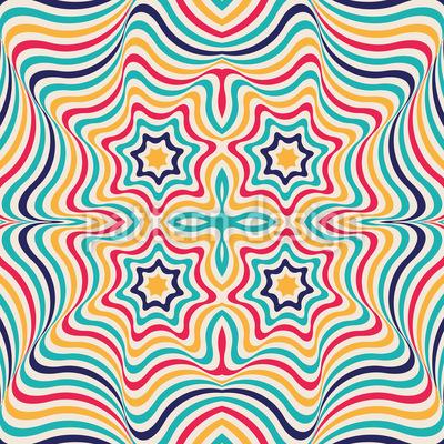 Clown Kaleidoskop Vektor Ornament