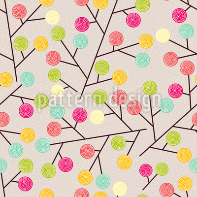 Lollypops Grow On Trees Seamless Vector Pattern Design