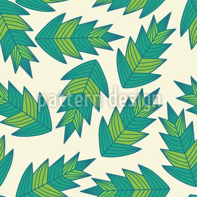 Dschungel Blatt Vektor Muster