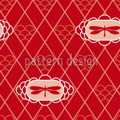 Dragonflies Repeating Pattern