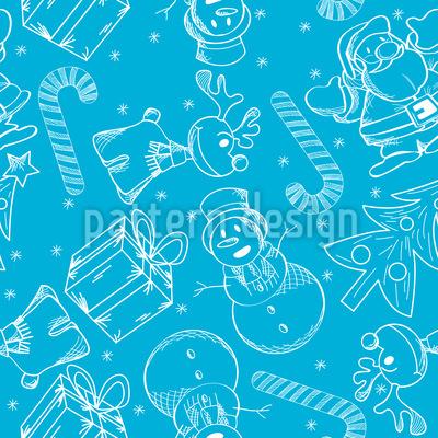 Weihnachten Auf Eis Nahtloses Vektormuster