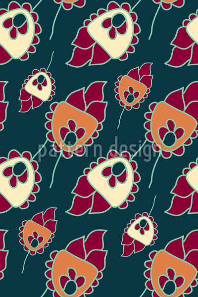 Cute Flower Fantasy Repeating Pattern