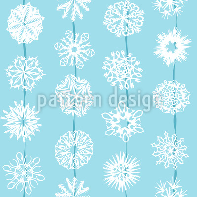 Schneeflocken Aus Papier Nahtloses Vektormuster
