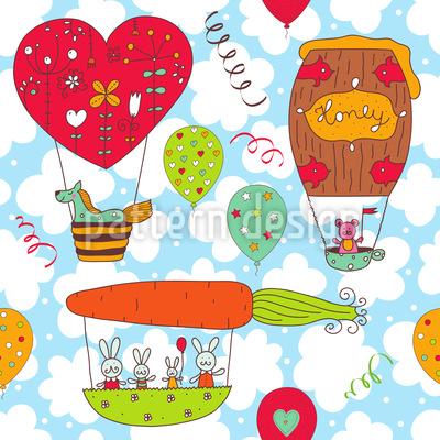 Honeypennies Ballonfahrt Musterdesign