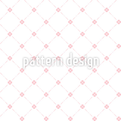 Country Clover Seamless Vector Pattern Design