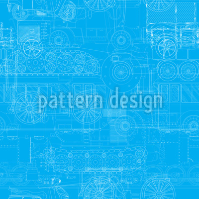 Transportation blueprint Seamless Vector Pattern Design