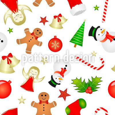 Weihnachts Minis Nahtloses Vektormuster