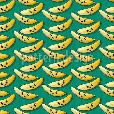 Happy Banana Pattern Design