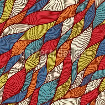 Rusalkas Funny Braids Seamless Pattern