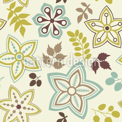 Blatt Und Blume Sind Vorboten Des Frühlings Nahtloses Vektor Muster