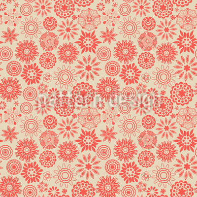 Floraler Sternenzauber Vektor Muster