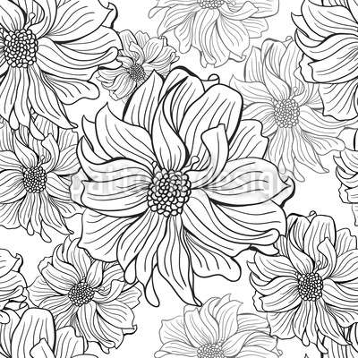 Dahlia Appear Repeating Pattern