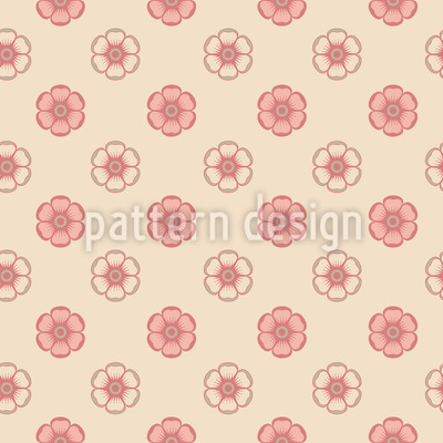 Zarte Emaille Rosen Nahtloses Muster
