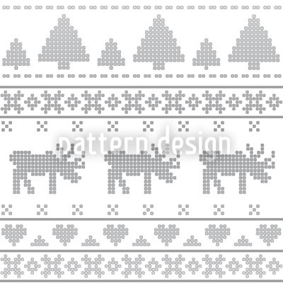 Norwegian Grey Seamless Vector Pattern Design