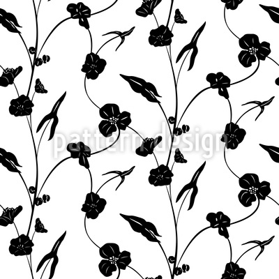 Lass Die Blumen Ranken Musterdesign