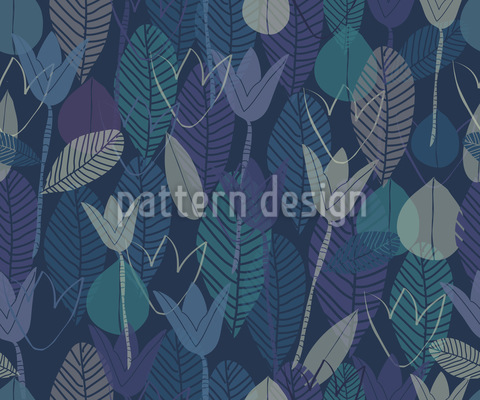 I Dreamed Of Tulips And Leaves Seamless Pattern