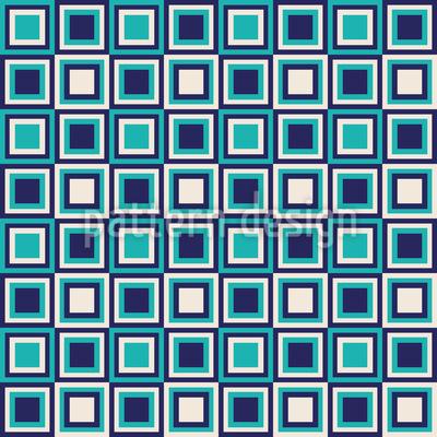 Retro Quadrate Sind Cool Rapportmuster