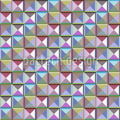 Mosaic Of The Third Dimension Pattern Design