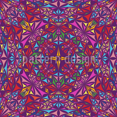 The Kaleidoscope Of Colors Design Pattern