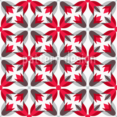 Poinsettias Seamless Vector Pattern