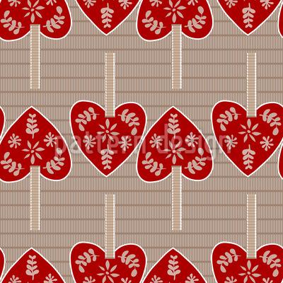 Herzchen Anhänger Vektor Muster