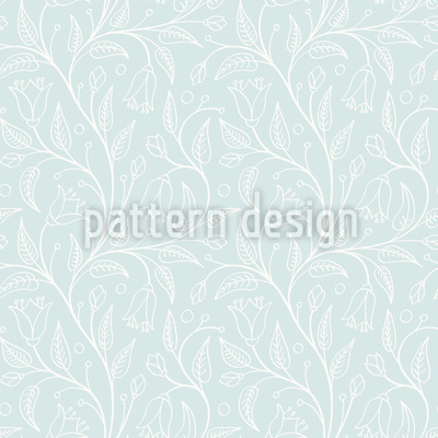 Bell Flower Splendor Seamless Vector Pattern