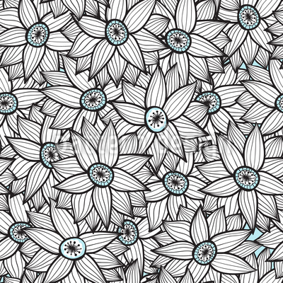 Cornflower Fantasy Repeat Pattern