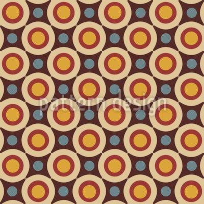 Retro Stern Und Kreis Muster Design