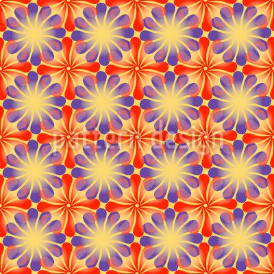 Blumen Strahlen Vektor Muster