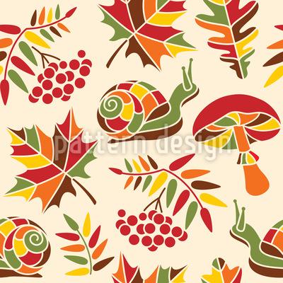 Die Schnecke Und Der Herbst Vektor Design