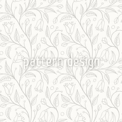 Elvish Flowers Seamless Vector Pattern Design