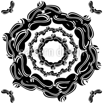 The Seal Of The Flower Pattern Design